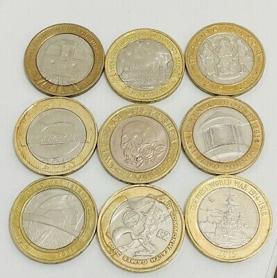 Job Lot 9x SCARCE 2 Two Pound Coins £2 Commonwealth Games  9 RARE Coins In Total • 39.99£