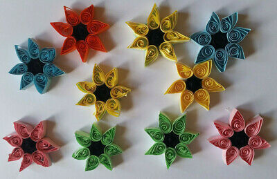 10 Quilled Mixed Sunflower Embellishments (SALE) • 2.50£