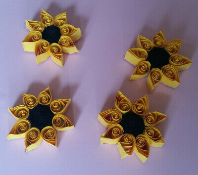 4 Quilled Sunflowers (SALE) • 1.15£