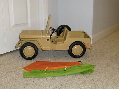 $ CDN627.67 • Buy 1960 1964 1970s GI JOE JEEP ADVENTURE TEAM DESERT PATROL TAN JEEP WORKING MOTOR