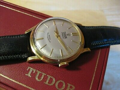 $ CDN1408.18 • Buy Rare Rolex Tudor Prince Small Rose 1960's 9ct Gold Vintage Automatic Mens Watch