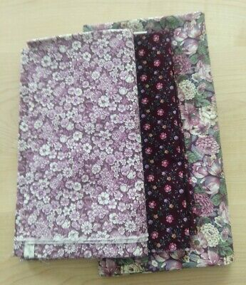 AU7.87 • Buy Bigger Than Fat Quarters Quilting Sew Craft Cotton Fabric - Plums