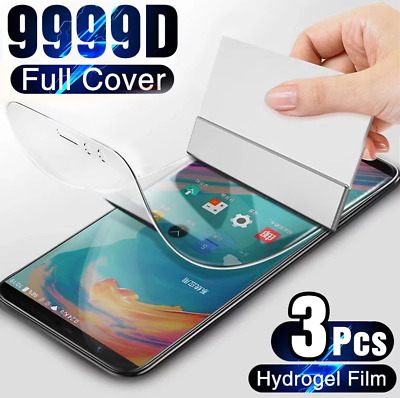 AU7.15 • Buy 3Pcs Protective Hydrogel Film Screen Protector Cover For OnePlus 7T 6T 5T 8T Pro