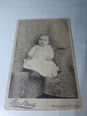 $8 • Buy Vintage Photograph Thick Paper Card Toddler Mahanoy City PA Lee Bros 4x6.5 Size