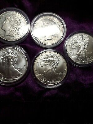 AU187.50 • Buy USA. Silver Eagle Dollars All Unc.1921 & 1922 100 Years Old + 2 Proof 1973 +1974