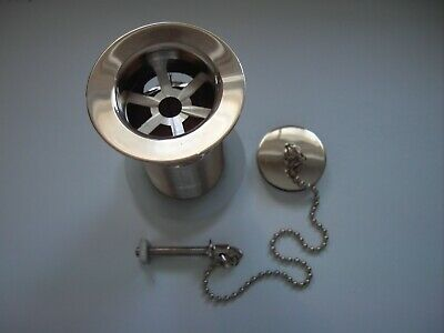 £20 • Buy Gold Plated Basin Waste With Plug & Chain