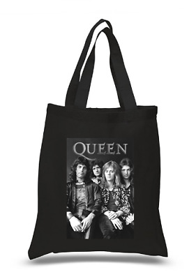 £6.49 • Buy Shopper Tote Bag Cotton Black Cool Icon Stars Queen Kiss Ideal Gift Present