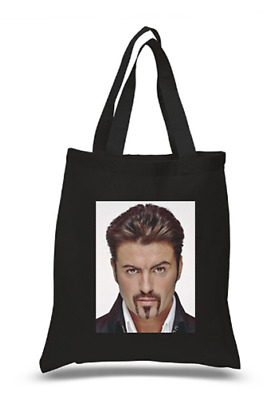 £6.49 • Buy Shopper Tote Bag Cotton Black Cool Icon Stars George Michael Ideal Gift Present