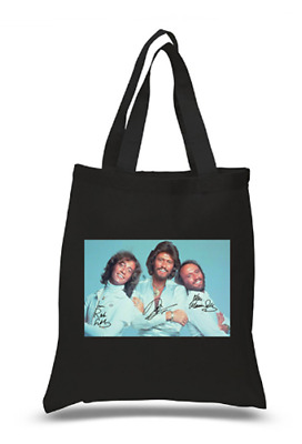 £6.49 • Buy Shopper Tote Bag Cotton Black Cool Icon Stars Beegees Ideal Gift Present