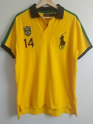 £48.10 • Buy Polo Ralph Lauren World Cup Olympic Rugby Shirt Big Pony Yellow BRAZIL 14 RARE