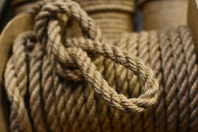 £11 • Buy 100%Natural Jute Hessian Rope Cord Braided Twisted Boating Sash Decking Garden