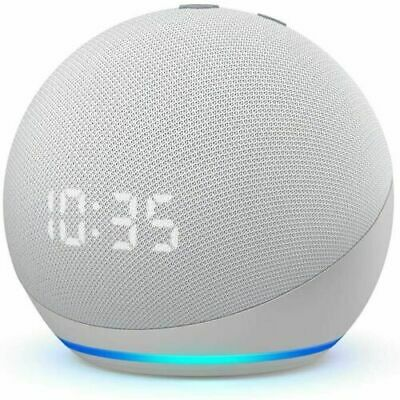 AU89.97 • Buy New Amazon Echo Dot (4th Gen) Smart Speaker With Clock And Alexa - White 3