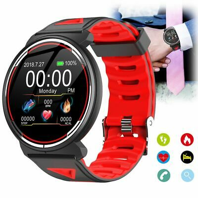 AU53.32 • Buy Round Screen Bluetooth Smart Watch ECG Heart Rate Monitor For Android IOS IPhone