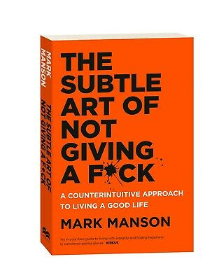 AU21.99 • Buy The Subtle Art Of Not Giving A F*ck: A Counterintuitive Approach To Living A Goo