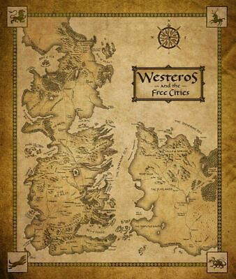 £24.04 • Buy 247002 Game Of Thrones Houses Map Westeros TV Show Art PRINT POSTER WALL
