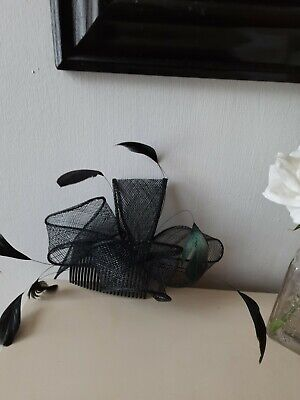 AU9 • Buy Fascinator Black With Feathers