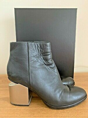 AU195 • Buy Alexander Wang 'gabi' Two Tone Leather Ankle Boot, Black, Size 38