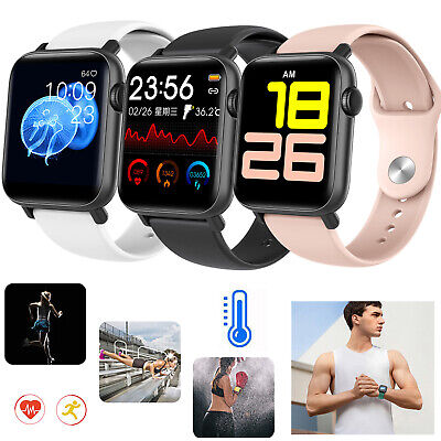 AU44.84 • Buy Smart Watch Body Thermometer Bluetooth Call Multi Sport Modes Fitness Tracker