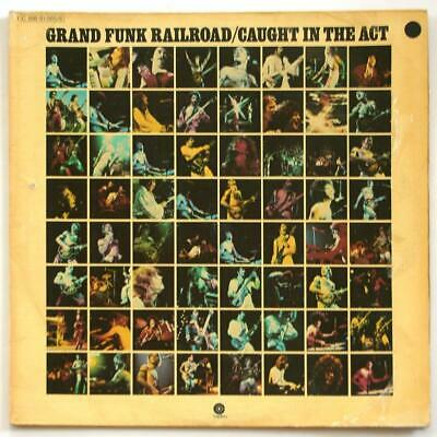 GRAND FUNK RAILROAD Caught In The Act Live 1975 2 LP GERMANY Excellent Vinyl • 9.46£