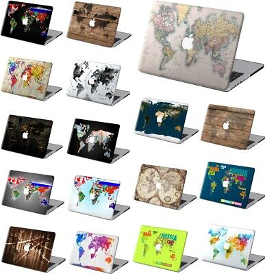 $14.83 • Buy World Map Rubberized Hard Cut Out Case Cover For Macbook Pro Air 11 12 13 15 16