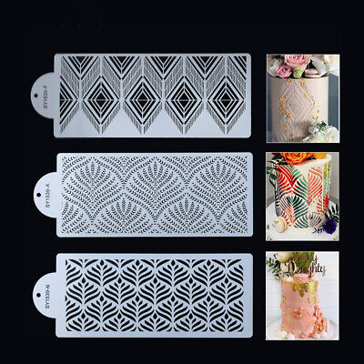 £6.88 • Buy Cake Baking Mold Decor Fondant Layering Stencil Template Edge Spray Moulds Tools