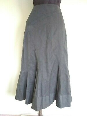 £13 • Buy Ex Chain Store Long Intricate Godet Style Grey Lined Skirt Uk Size 12