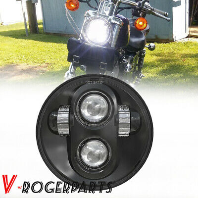 $18.41 • Buy 5-3/4  5.75  LED Projector Headlight For Dyna Super Low XL883L Super Glide FXD