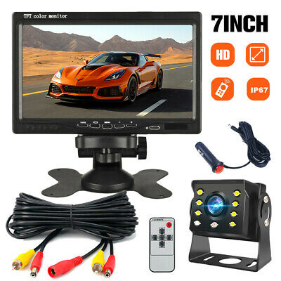 AU84.99 • Buy Wired Reverse Camera 7  Monitor Car Rear View Backup Kit For Truck Bus Caravan