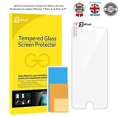 £1.95 • Buy JETech Screen Protector For Apple IPhone 7 Plus & 8 Plus Premium Tempered Glass