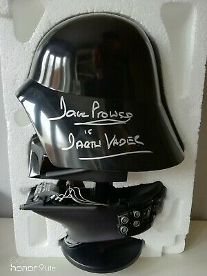 £120 • Buy Riddell Darth Vader 45% Scale Helmet (1997) Complete With David Prowse Signature