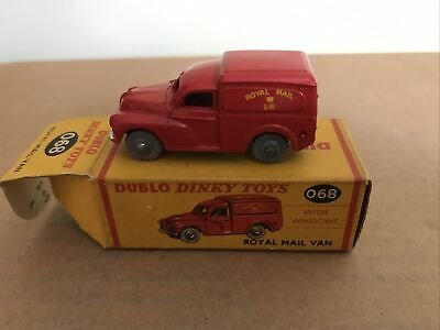 Dublo Dinky No. 068 Royal Mail Van With Windows, For Hornby Dublo Boxed. VGC • 21£