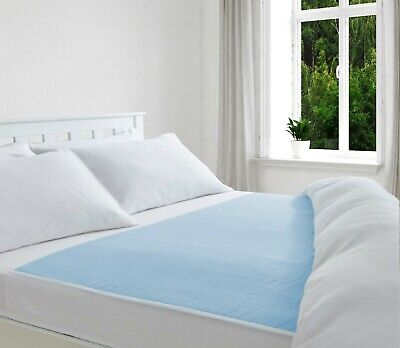 £10 • Buy Absorbent Washable Incontinence Bed Sheet/ Pad/ Mattress Protection Blue