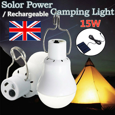 £15.99 • Buy 4X Solar Panel Powered LED Light Bulb Portable Outdoor Camping Tent Fishing Lamp