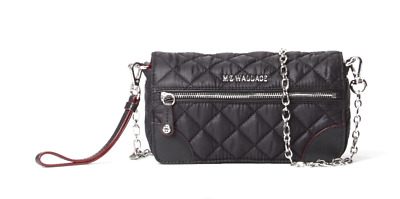 AU189.16 • Buy Mz Wallace Crosby Convertible Black Wristlet 47208