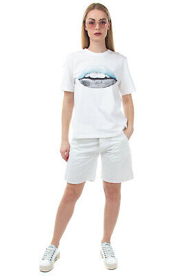 $ CDN51.80 • Buy RRP €135 MARKUS LUPFER T-Shirt Top Size M Lip Print Crew Neck Made In Portugal