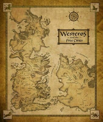 £11.63 • Buy 247002 Game Of Thrones Houses Map Westeros TV Show Art PRINT POSTER WALL CA
