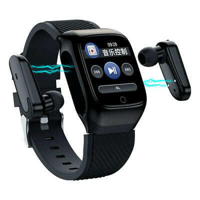 AU60.60 • Buy Blood Pressure Bluetooth Smart Watch With TWS Mini Headsets Sports Fitness Watch
