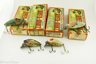 $ CDN19.46 • Buy Vintage Heddon River Runt & Midget Digit Spook Antique Fishing Lures W Boxes WH6