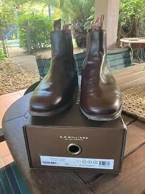 AU400 • Buy RM Williams Comfort Tambo Chestnut/yearling Leather Boots Size 9.5 X