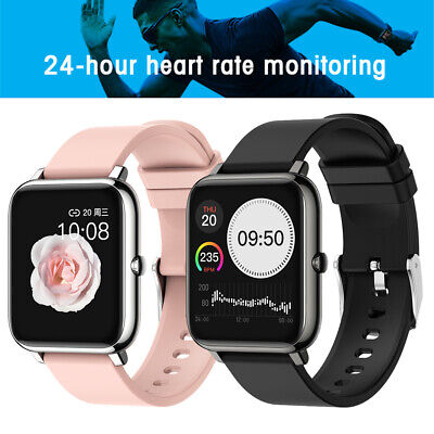 AU46.05 • Buy Sleep Monitor Smart Watch Bluetooth Alarm Reminder Heart Rate For IPhone Huawei