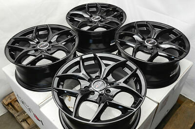 $324 • Buy 15  Wheels Fit Honda Accord Civic Accent Sonata Cooper Jetta 4 Lug Black Rims