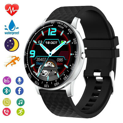 AU37.57 • Buy Smart Watch Full Touch Heart Rate Blood Pressure For Samsng S20 IPhone Android