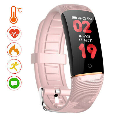AU41.20 • Buy Temperature Monitor Smart Watch Bluetooth Fitness Tracker Heart Rate Tracker