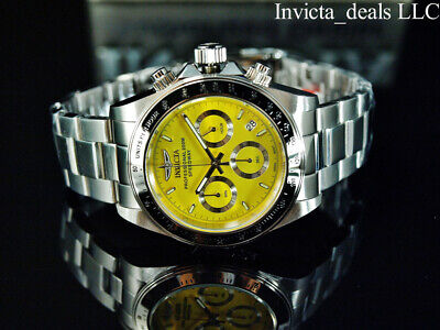 $ CDN96.72 • Buy Invicta Men's 40mm SPEEDWAY DRAGSTER Chronograph YELLOW DIAL Silver Tone Watch