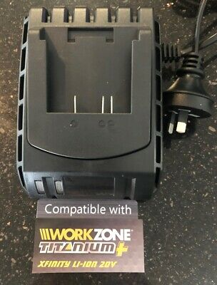 AU79 • Buy Fast Charger For XFINITY  Workzone Garden Line 20V LI-ION LITHIUM Batteries