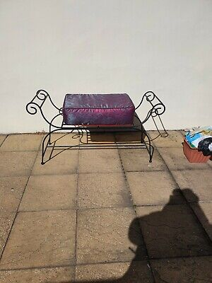 Wrought Iron Bench With Custom Cushion  • 60£