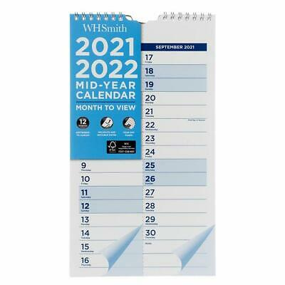 £3.99 • Buy WHSmith Month To View 2021-2022 Commercial Calendar Planner Family Organiser