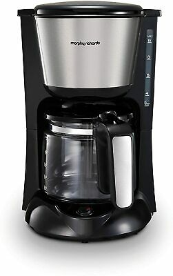 £24.99 • Buy Morphy Richards 162501 Equip Filter Coffee Machine Black 1000W 1.2 Litre
