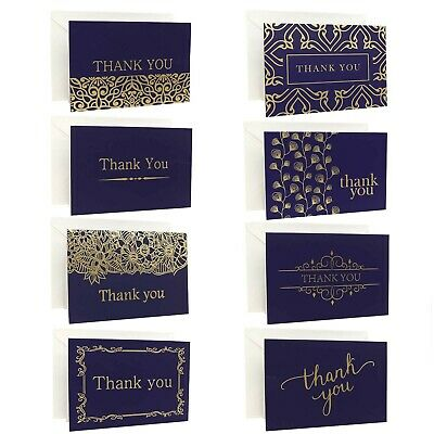 Ideal Home 48 Pack Thank You Cards Multipack With Envelopes, Greeting Cards W... • 27.99£