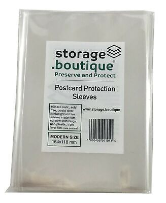 £17.99 • Buy Storage.boutique Postcard Protection Sleeves, Crystal Clear, Acid Free, 3-Lay...